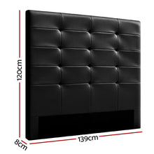 Load image into Gallery viewer, Artiss BENO Double Size Bed Head Headboard Bedhead Leather Base Frame
