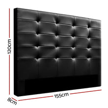 Load image into Gallery viewer, Artiss BENO Queen Size Bed Head Headboard Bedhead Leather Base Frame