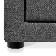 Load image into Gallery viewer, Artiss Fabric Bedside Table - Grey