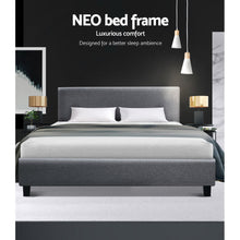 Load image into Gallery viewer, Artiss King Size Bed Frame Base Mattress Platform Fabric Wooden Grey NEO