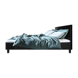Artiss Queen Size PU Leather Bed Frame Headboard - Black