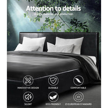 Load image into Gallery viewer, Artiss Queen Size PU Leather Bed Frame Headboard - Black