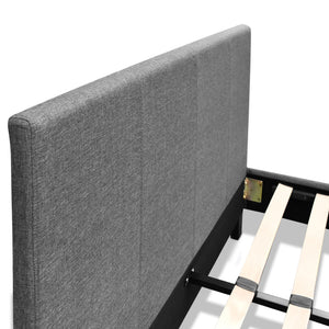 Artiss Queen Size Fabric Bed Frame Headboard- Grey