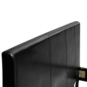 Artiss Single Size PU Leather Bed Frame Headboard - Black