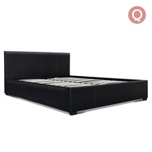 Load image into Gallery viewer, Artiss Queen Size PU Leather and Wood Bed Frame Headborad - Black