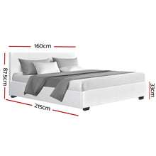 Load image into Gallery viewer, Artiss Queen Size PU Leather and Wood Bed Frame Headborad -White
