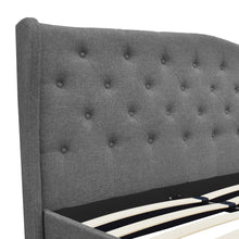 Load image into Gallery viewer, Artiss King Size Wooden Upholstered Bed Frame Headborad - Grey
