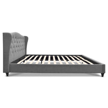 Load image into Gallery viewer, Artiss Queen Size Wooden Upholstered Bed Frame Headborad - Grey