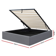Load image into Gallery viewer, Artiss King Single Size Gas Lift Bed Frame Base With Storage Platform Fabric