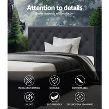 Load image into Gallery viewer, Artiss King Single Size Bed Base Frame Mattress Platform Fabric Wooden Charcoal TOMI