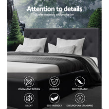 Load image into Gallery viewer, Artiss Queen Size Bed Base Frame Mattress Platform Fabric Wooden Charcoal TOMI