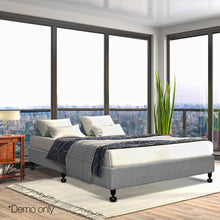 Load image into Gallery viewer, Artiss Queen Size Fabric and Wood Bed Frame - Grey