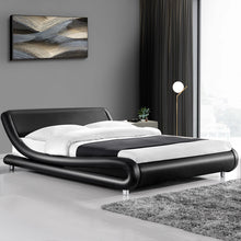 Load image into Gallery viewer, Artiss Queen Size PU Leather Bed Frame - Black