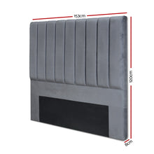 Load image into Gallery viewer, Artiss Queen Size Fabric Bed Headboard - Charcoal