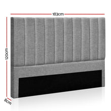 Load image into Gallery viewer, Artiss KING Size Bed Head SALA Headboard for Base Frame Linen Upholstered