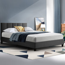 Load image into Gallery viewer, ANNA Bed Frame King Single Size Mattress Base Platform Fabric Wooden Charcoal