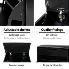 Load image into Gallery viewer, Artiss 3 Tier Shoe Cabinet Storage Stool Black