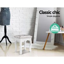 Load image into Gallery viewer, Artiss Dressing Stool Bedroom White Make Up Chair Living Room Fabric Furniture