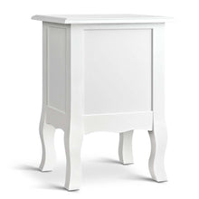 Load image into Gallery viewer, Bedside Table French Provincial Lamp Cabinet 2 Drawers White