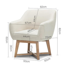 Load image into Gallery viewer, Artiss Fabric Tub Lounge Armchair - Beige