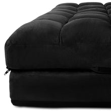 Load image into Gallery viewer, Artiss Lounge Sofa Bed 2-seater Floor Folding Suede Charcoal