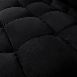 Artiss Lounge Sofa Bed 2-seater Floor Folding Suede Charcoal