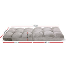 Load image into Gallery viewer, Artiss Lounge Sofa Floor Recliner Futon Chaise Folding Couch Grey
