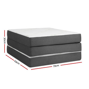 Giselle Bedding Folding Foam Portable Mattress Bamboo Fabric