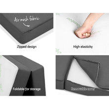 Load image into Gallery viewer, Giselle Bedding Folding Foam Portable Mattress Bamboo Fabric