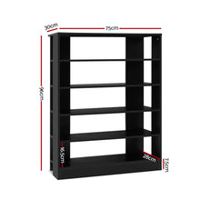 Load image into Gallery viewer, Artiss Shoe Cabinet Shoes Organiser Storage Rack 30 Pairs Black Shelf Wooden