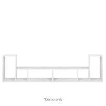 Load image into Gallery viewer, Artiss DIY L Shaped Display Shelf - White