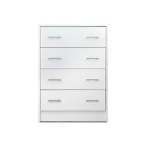 Load image into Gallery viewer, Artiss Tallboy 4 Drawers Storage Cabinet - White