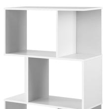 Load image into Gallery viewer, Artiss 3 Tier Zig Zag Bookshelf - White