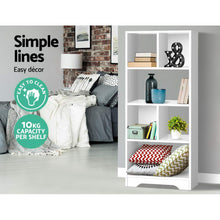 Load image into Gallery viewer, Artiss Display Shelf Bookcase Storage Cabinet Bookshelf Bookcase Home Office White