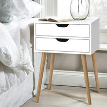 Load image into Gallery viewer, Artiss Bedside Tables Drawers Side Table Nightstand Wood Storage Cabinet White