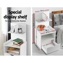 Load image into Gallery viewer, Artiss Bedside Table Cabinet Shelf Display Drawer Side Nightstand Unit Storage