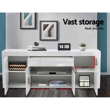 Load image into Gallery viewer, Artiss Buffet Sideboard Cabinet High Gloss Storage 4 Doors Cupboard Hall White