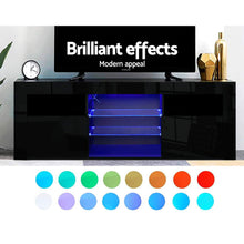 Load image into Gallery viewer, Artiss 145cm RGB LED TV Cabinet Entertainment Unit Stand Gloss Furniture Black
