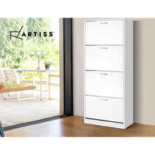 Load image into Gallery viewer, Artiss 60 Pairs Shoe Cabinet Shoes Rack Storage Organiser Shelf Cupboard Drawer