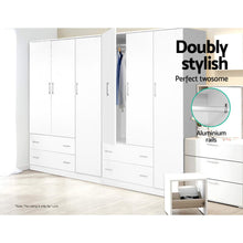 Load image into Gallery viewer, Artiss 3 Doors Wardrobe Bedroom Closet Storage Cabinet Organiser Armoire 170cm