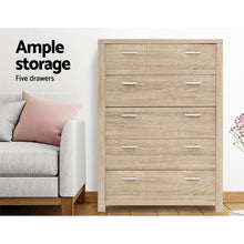 Load image into Gallery viewer, Artiss 5 Chest of Drawers Tallboy Dresser Table Bedroom Storage Cabinet