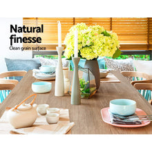 Load image into Gallery viewer, Artiss Wooden Dining Table NATU 120cm 4 Seater Kitchen Rectangular Modern Oak
