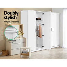 Load image into Gallery viewer, Artiss Multi-purpose Cupboard 2 Door 180cm Wardrobe Closet Storage Cabinet Kitchen Organiser White