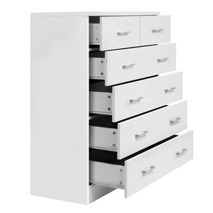 Artiss Tallboy 6 Drawers Storage Cabinet - White