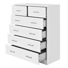 Load image into Gallery viewer, Artiss Tallboy 6 Drawers Storage Cabinet - White