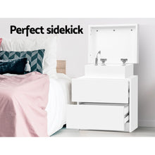 Load image into Gallery viewer, Artiss Bedside Tables 2 Drawers Side Table Storage Nightstand White Bedroom Wood