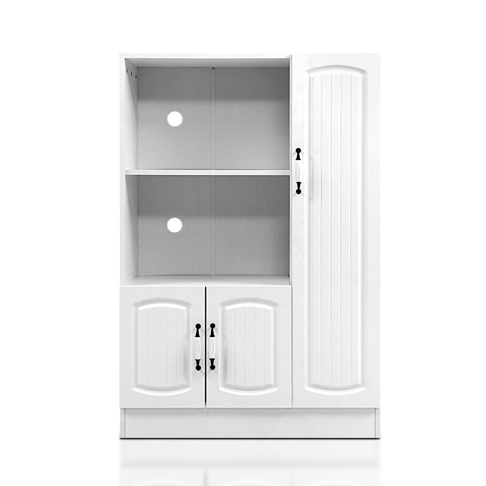 Artiss Buffet Sideboard Cabinet Storage Cupboard Doors White Kitchen Hallway