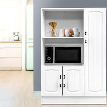 Load image into Gallery viewer, Artiss Buffet Sideboard Cabinet Storage Cupboard Doors White Kitchen Hallway