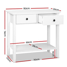 Load image into Gallery viewer, Hallway Console Table Hall Side Entry 2 Drawers Display White Desk Furniture