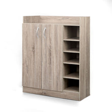 Load image into Gallery viewer, Artiss 2 Doors Shoe Cabinet Storage Cupboard - Wood